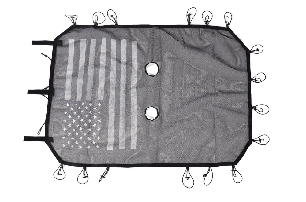 USA Flag BORUIEN Matt Black Gas Tank Cap Cover Fuel Filler Door for 2007-2016 Jeep Wrangler JK 2//4 Door