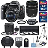 Canon EOS Rebel T6i 24.2 MP DSLR Digital Camera with USA Warranty & EF-S 18-135mm f/3.5-5.6 IS STM Lens + 4 Piece HD Macro Close Up Filter Set + Digital Camera Flash + 3 Piece HD 67mm Filter Kit + Total of 32 GB SDHC + Complete Deluxe Accessory Bundle