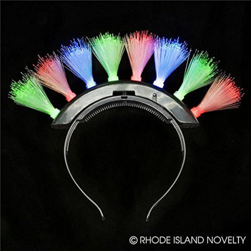 Mohawk LED Fiber Optic Headband