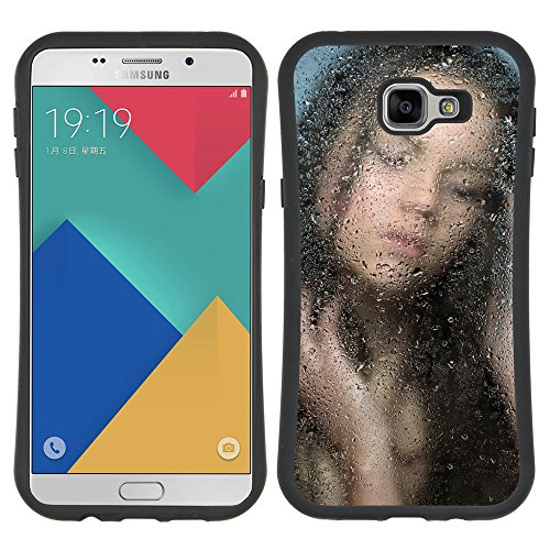 [Planetar] iFace Series Soft Tpu Skin Bumper Case Cover For Samsung Galaxy A9 (2016 Version)) / Galaxy A9 (2016) Duos [Brunettes Showers Silhouette Water Drop]