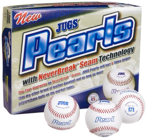 Jugs Pearl Leather Baseballs (One Dozen) by Jugs
