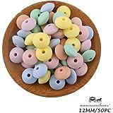 Mamimami Home Perles de coeur en bois Perles de teether 50pc Bracelet de dentition de 20mm Accessoires pour b/éb/é Accessoires pour b/éb/é