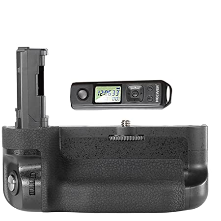 Neewer® LCD 2.4GHz Wireless Remote Control Pro Battery Grip Replacement for VG-C2EM with Screen Lock Function Works with NP-FW50 Battery for Sony  at amazon