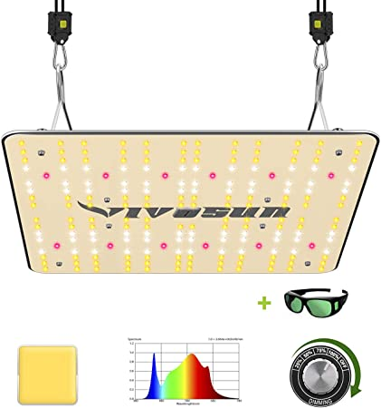 VIVOSUN Latest VS1000 LED Grow Light with Samsung LM301H Diodes & Sosen Driver Dimmable Lights Sunlike Full Spectrum for Indoor Plants Seeding Veg and Bloom Plant Growing Lamps