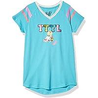 JoJo Siwa Girls TTYL Emoji JoJo & Bow Bow V-Neck Athletic Varsity Stripe Tee Short Sleeve T-Shirt