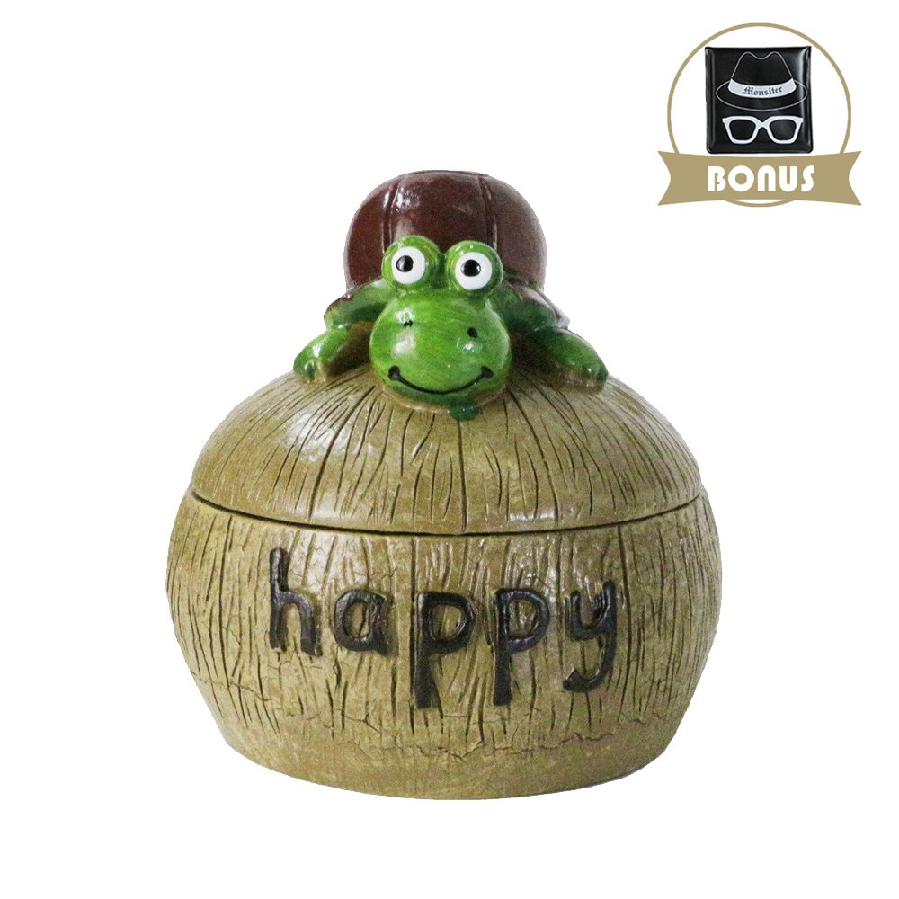 Monsiter Ashtray for Cigarette Creative Turtle Ashtray with Lid Home Decoration
