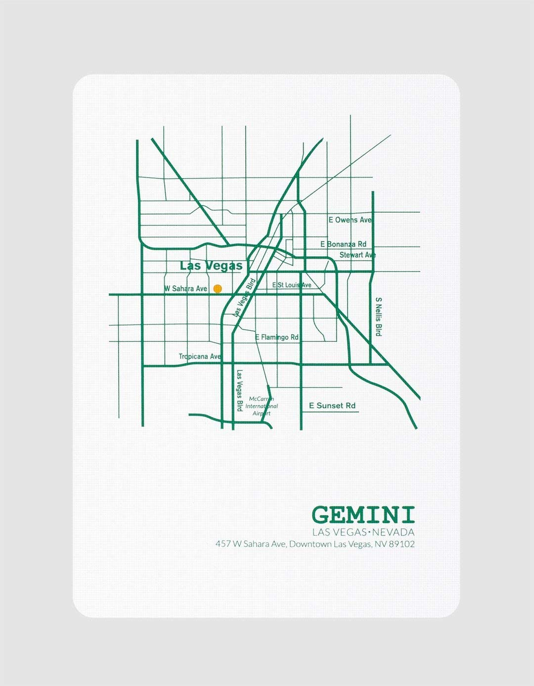 Gemini Casino Playing Cards-Emerald Green Poker Playing Cards Cardistry