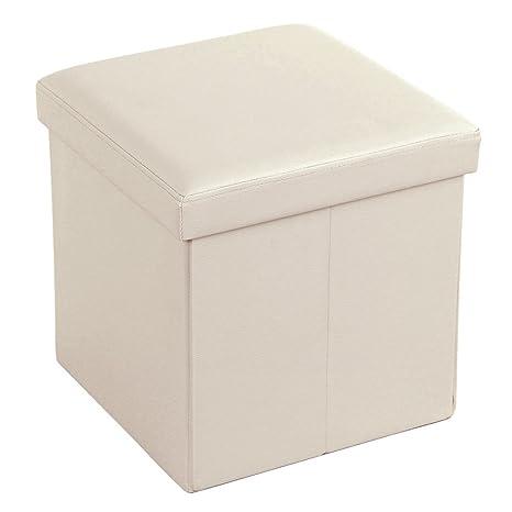 Lovely SONGMICS 15u0026quot; X 15u0026quot; X 15u0026quot; Storage Ottoman Cube/Footrest Stool/