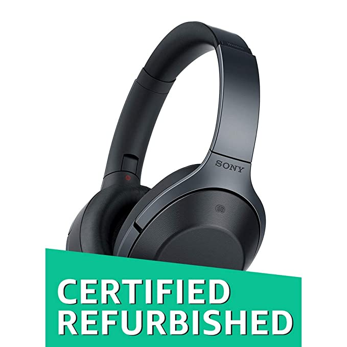 (Certified REFURBISHED) Sony MDR-1000X Wireless Digital Noise Cancellation with Hi-Res Audio Headphones (Black) Headphones at amazon
