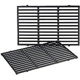QuliMetal 7524 19.5 Inches Cast Iron Cooking Grid Grates for Weber Genesis E-310/ E-320/ E-330, Genesis S-310/ S-320/ S…