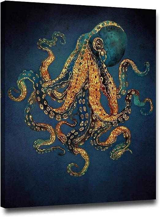 Watercolor Octopus Painting Octopus Print Sea Life Art Octopus Decor