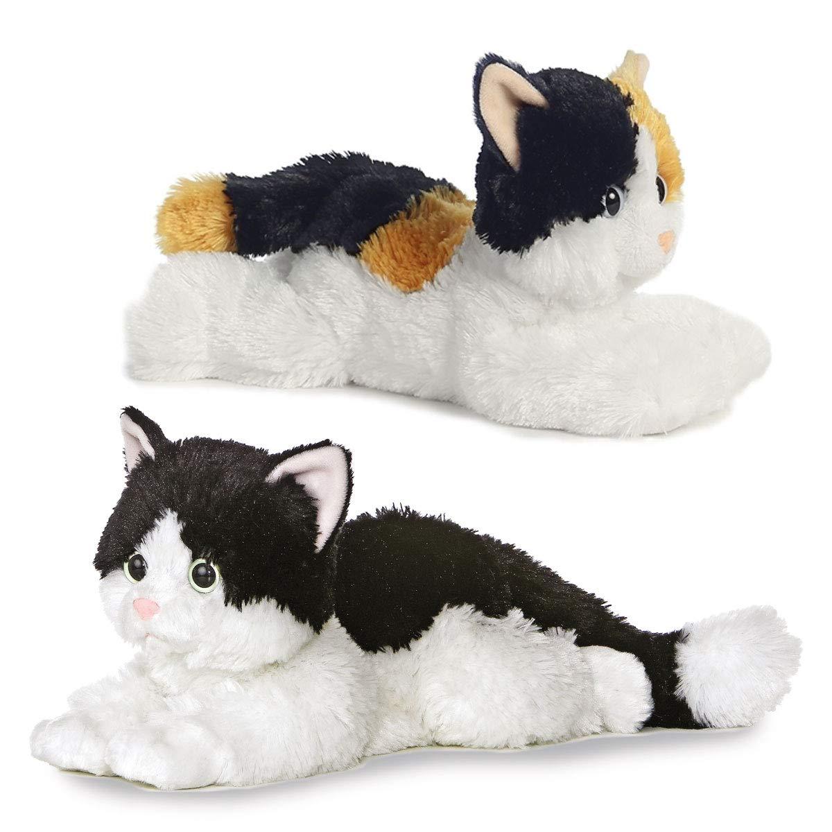Amazon.com  Aurora Esmeralda Calico Cat and Oreo Tuxedo Stuffed Kitten Cat  Animal- Combo  Toys   Games d20142d76068
