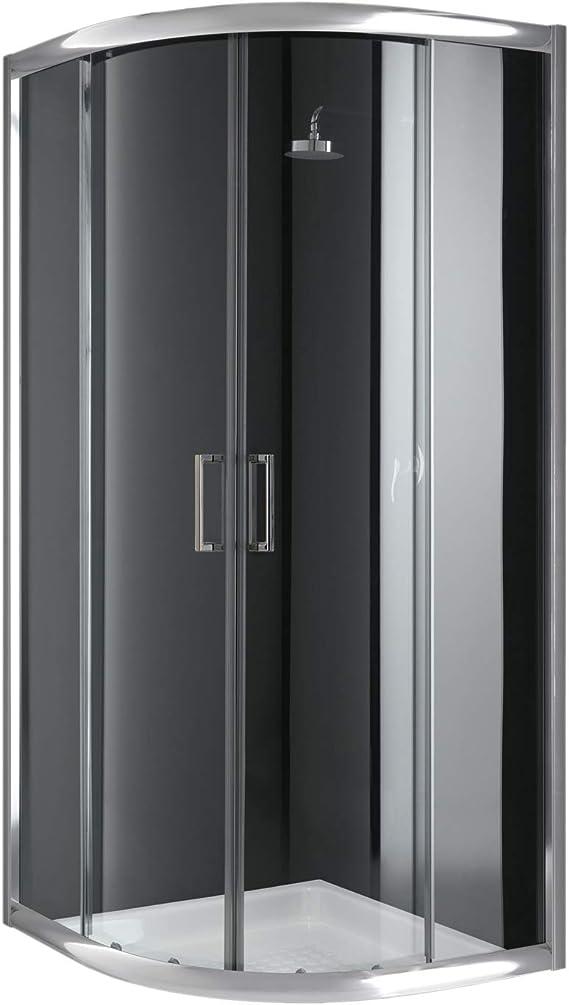 Cabina de ducha semicircular, 80 x 80 x 198 cm, transparente, 6 mm: Amazon.es: Bricolaje y herramientas