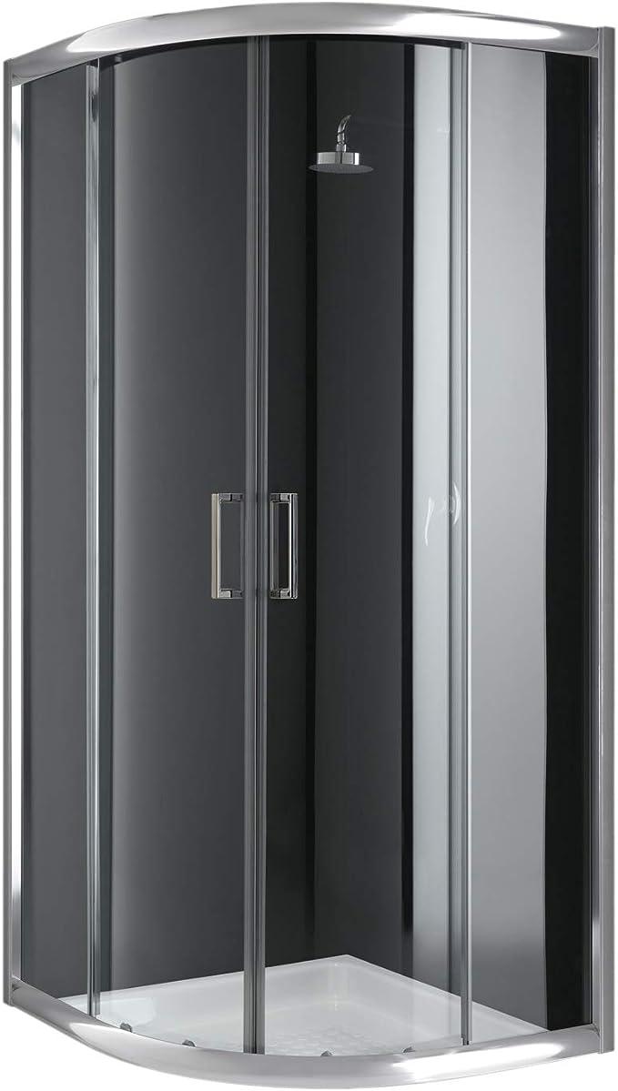 Cabina de ducha semicircular, 90 x 90 x 198 cm, transparente, 6 mm ...