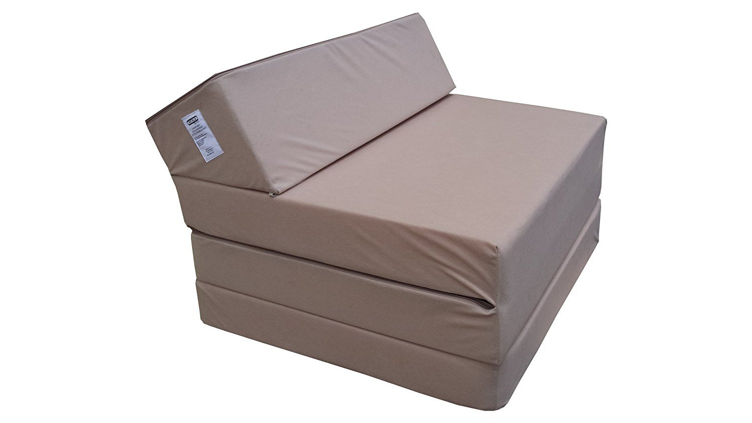 Fold Out Guest Chair Z Bed Futon Sofa for Adult and Kids folding mattress  (Beige)