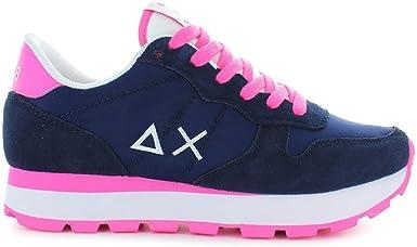 Zapatos de Mujer Zapatillas Running Solid Nylon Azul/Fucsia Sun68 Primavera Verano 2018: Amazon.es: Ropa y accesorios