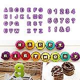 zhcoy 40pcs Alphabet Number Letter Fondant Cake Decorating Set Icing Cutter Mold Mould (KT0019)