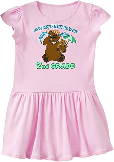 inktastic Its My 1st Day of 2nd Grade with Cute Bear Family Baby T-Shirt