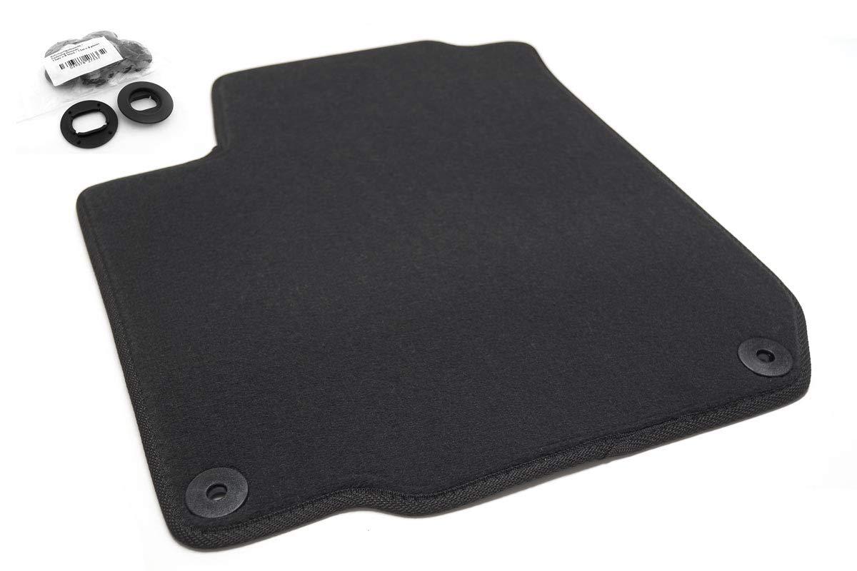 KH Pièces Paillasson/tapis de voiture en velours tapis conducteur original Tapis en qualité 1pièces Noir kh Teile