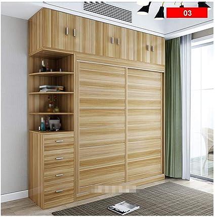 Yaohm Armoire Simple Et Moderne En Bois A 2 Portes Pour Chambre A Coucher 180 Cm Amazon Fr Cuisine Maison