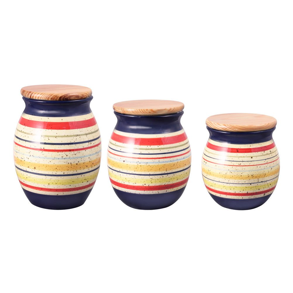 Pfaltzgraff Sedona Sealed Canisters, Set of 3