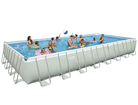 "Intex 32 ft x 16 ft x 52 ""Ultra Marco rectangular Piscina sobre suelo"