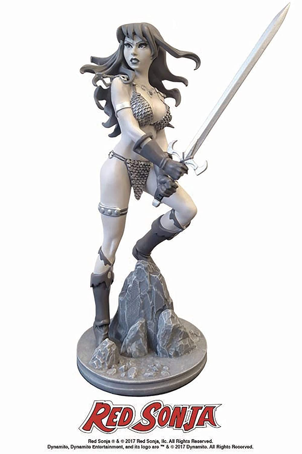 Dynamite Red Sonja by Amanda Conner Black /& White Statue