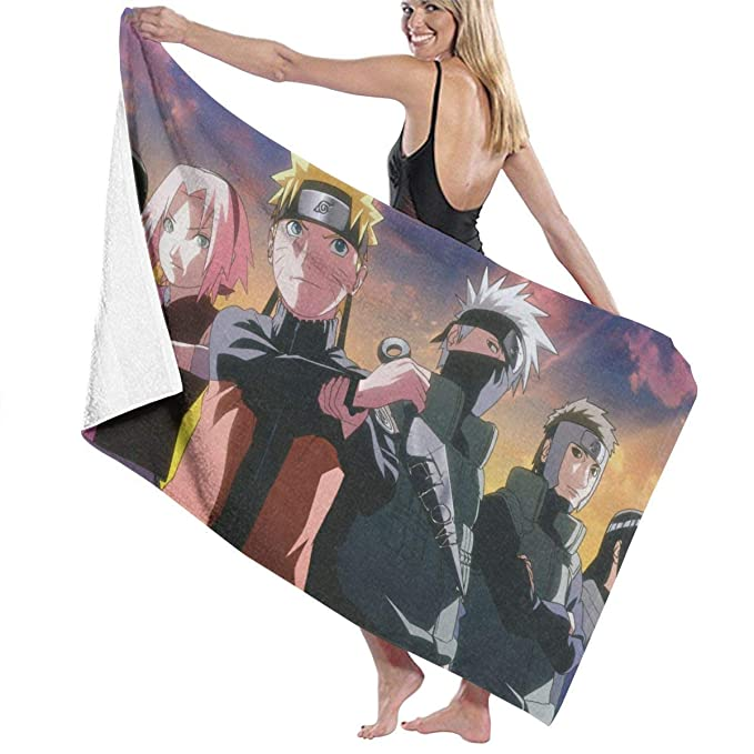 Playa Toallas ETGBFHRDH Toalla de ba/ño con Estampado de Anime Naruto Toallas de Ducha Tela de Microfibra para ni/ños Deportes Hombres Mujeres Viajes