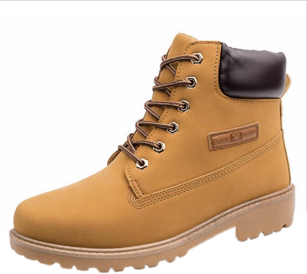 Zapatillas Hombre Zapatos casuales de hombres Shoes Botines con cordones de hombre Botas de cuero