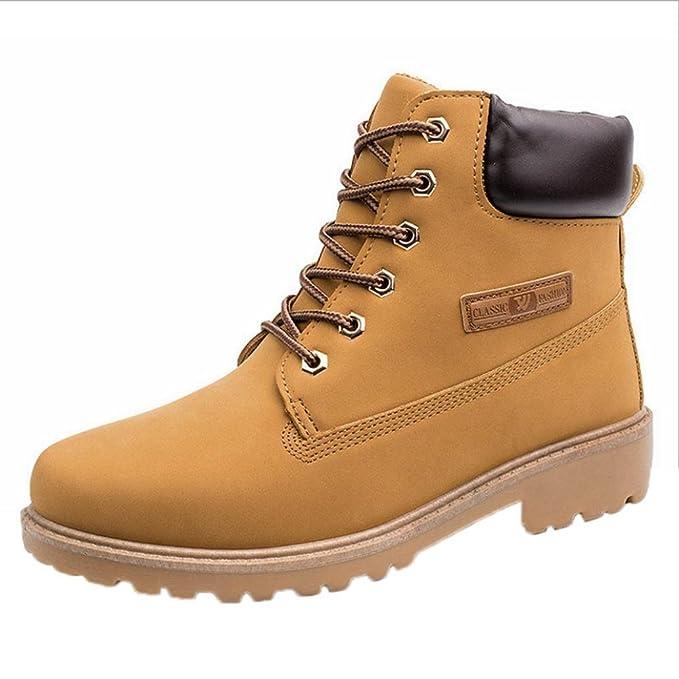 ae969747f5c24 Amlaiworld Zapatillas Hombre Zapatos casuales de hombres Shoes Botines con  cordones de hombre Botas de cuero  Amazon.es  Iluminación