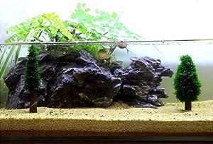2pcs Moss Plant Christmas Tree Plastic Holder Aquatic Aquarium Fish Tank DIY Decor Ornament fits All Water (Moss not Included)
