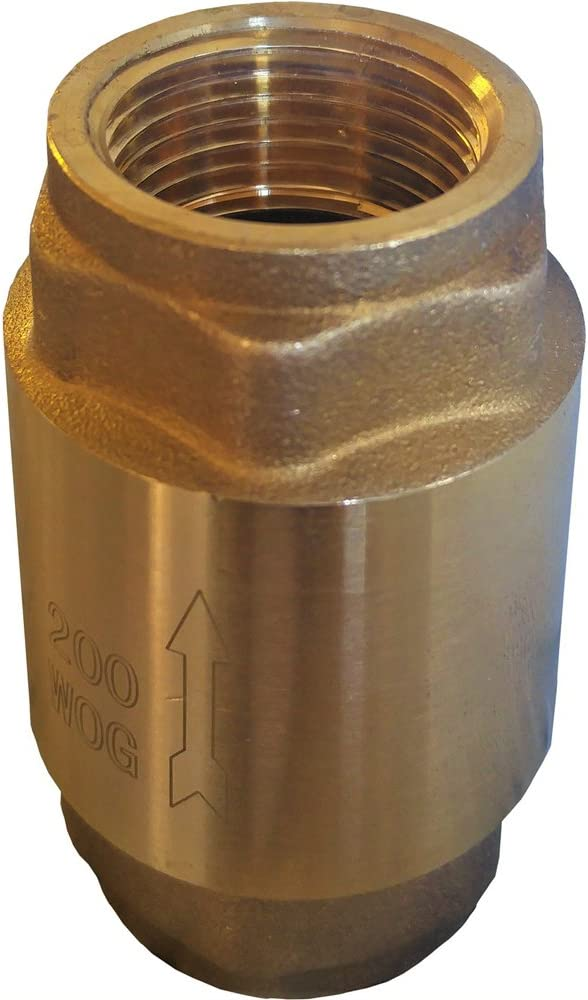 "Lead Free Brass Spring Check Valve, IPS Thread (1-1/2"" [1.5 inches])"