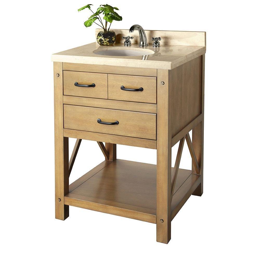 Foremost avhos2422cm avondale 25 vanity in weathered pine - Home depot bathroom vanities on sale ...