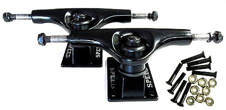 5' Speed Trucks Set - Black (2 Trucks w/ 1' Screws)