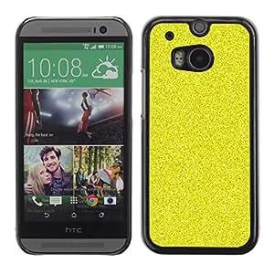 Patr¨®n de grano Bling Rich Amarillo- Metal de aluminio y de pl¨¢stico duro Caja del tel¨¦fono - Negro - HTC One M8