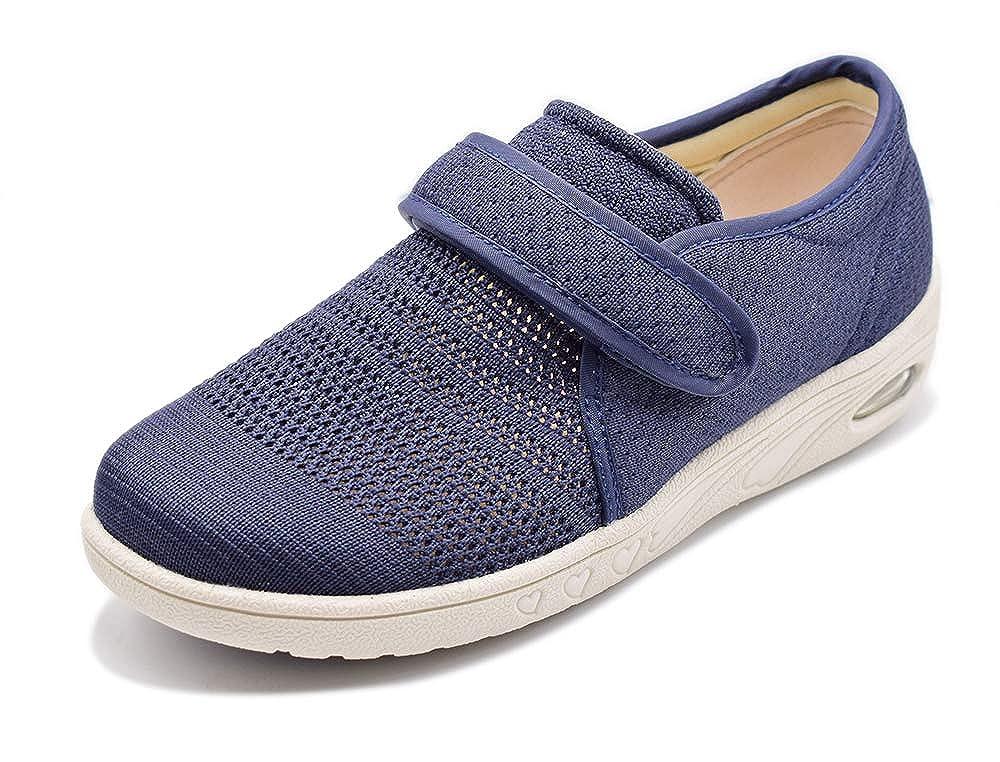 bluee Mei MACLEOD Women Arthritis Edema Adjustable Closure Diabetic Swollen feet shoes