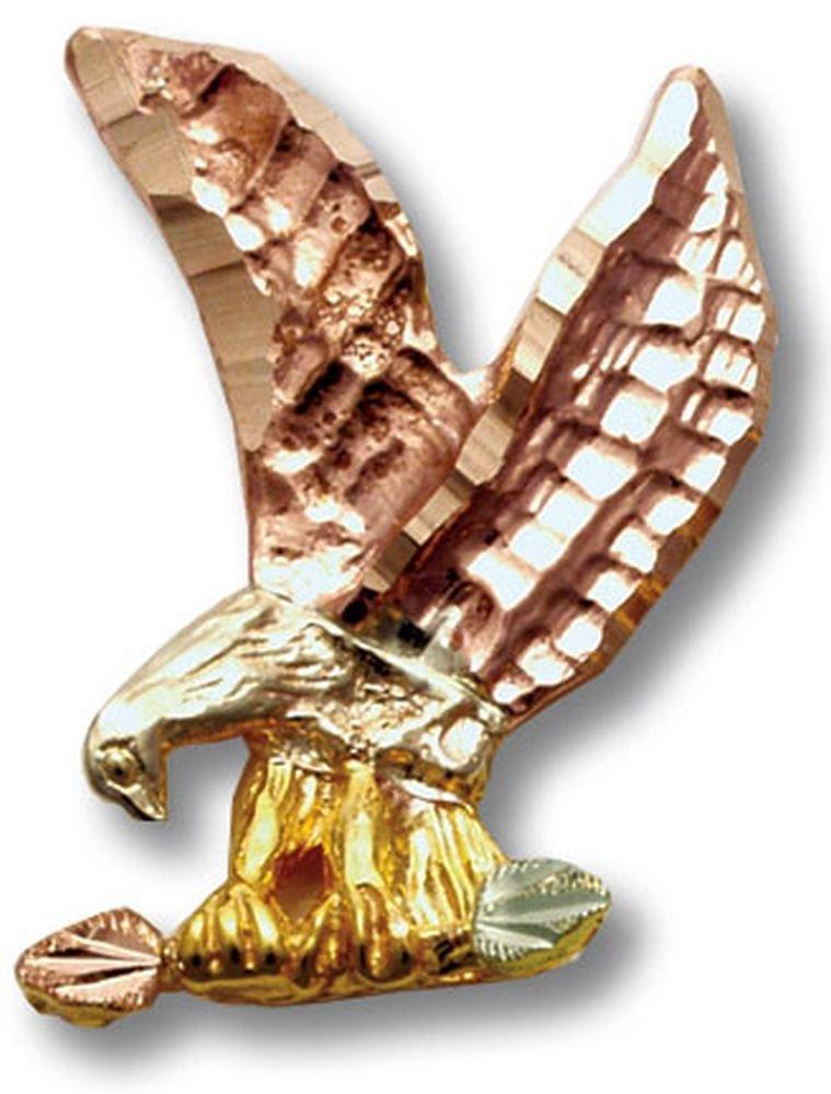Landstroms 10k Black Hills Gold Eagle Tie Tack or Lapel Pin - R784R