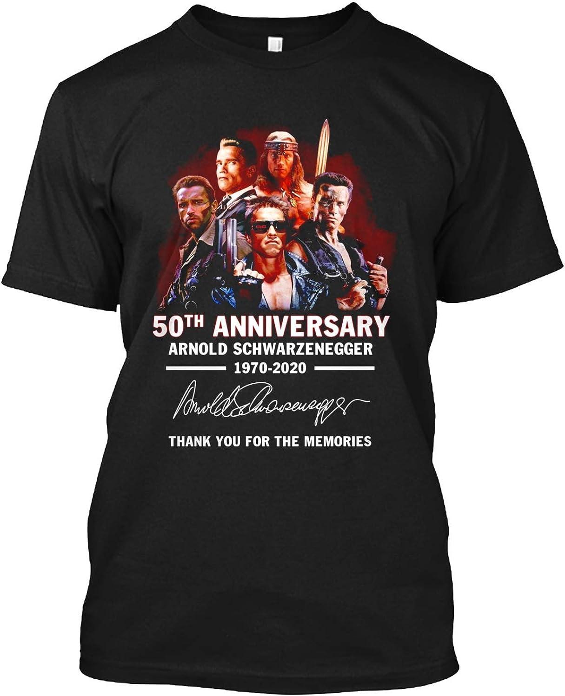 50 aniversario Arnold-Schwarzennegger 1970-2020 firmado camiseta regalo camiseta para hombres mujeres