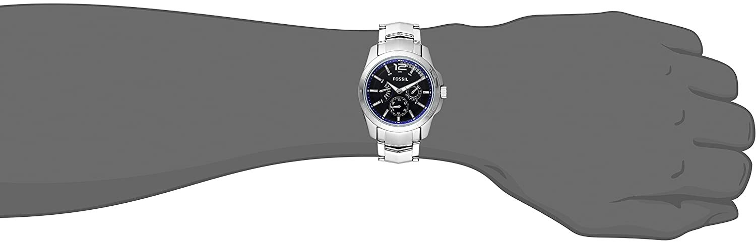 50958f3b95b0 Fossil Men s BQ9346 Multifunction Stainless Steel Bracelet with Blue Dial   Amazon.com.mx  Relojes