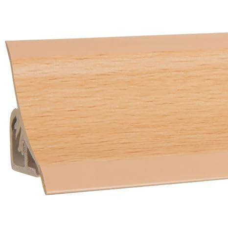 HOLZBRINK Alzatina per Piano Cucina Faggio Listella di Finitura in PVC  23x23 mm 150 cm