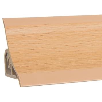 HOLZBRINK Küchenabschlussleiste Buche Küchenleiste PVC Wandabschlussleiste  Arbeitsplatten 23x23 mm 150 cm