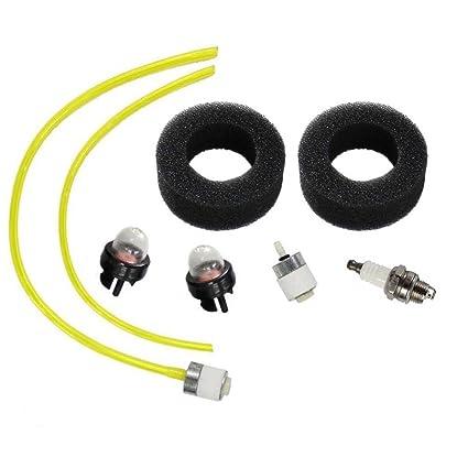 amazon com huri air filter fuel line fuel filter for bolens bl100
