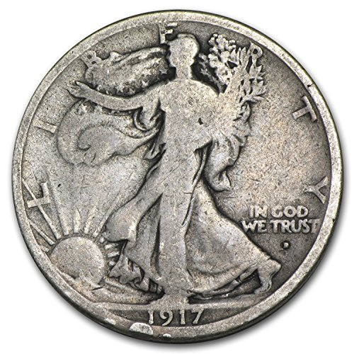 1917 D Obverse Walking Liberty Half Dollar Good Half Dollar Good
