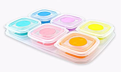 Baby Food Storage Box Frozen Food Container Baby Food Container Childrenu0027s Dinnerware Portable Sealed Snack Storage  sc 1 st  Amazon.com & Amazon.com: Baby Food Storage Box Frozen Food Container Baby Food ...