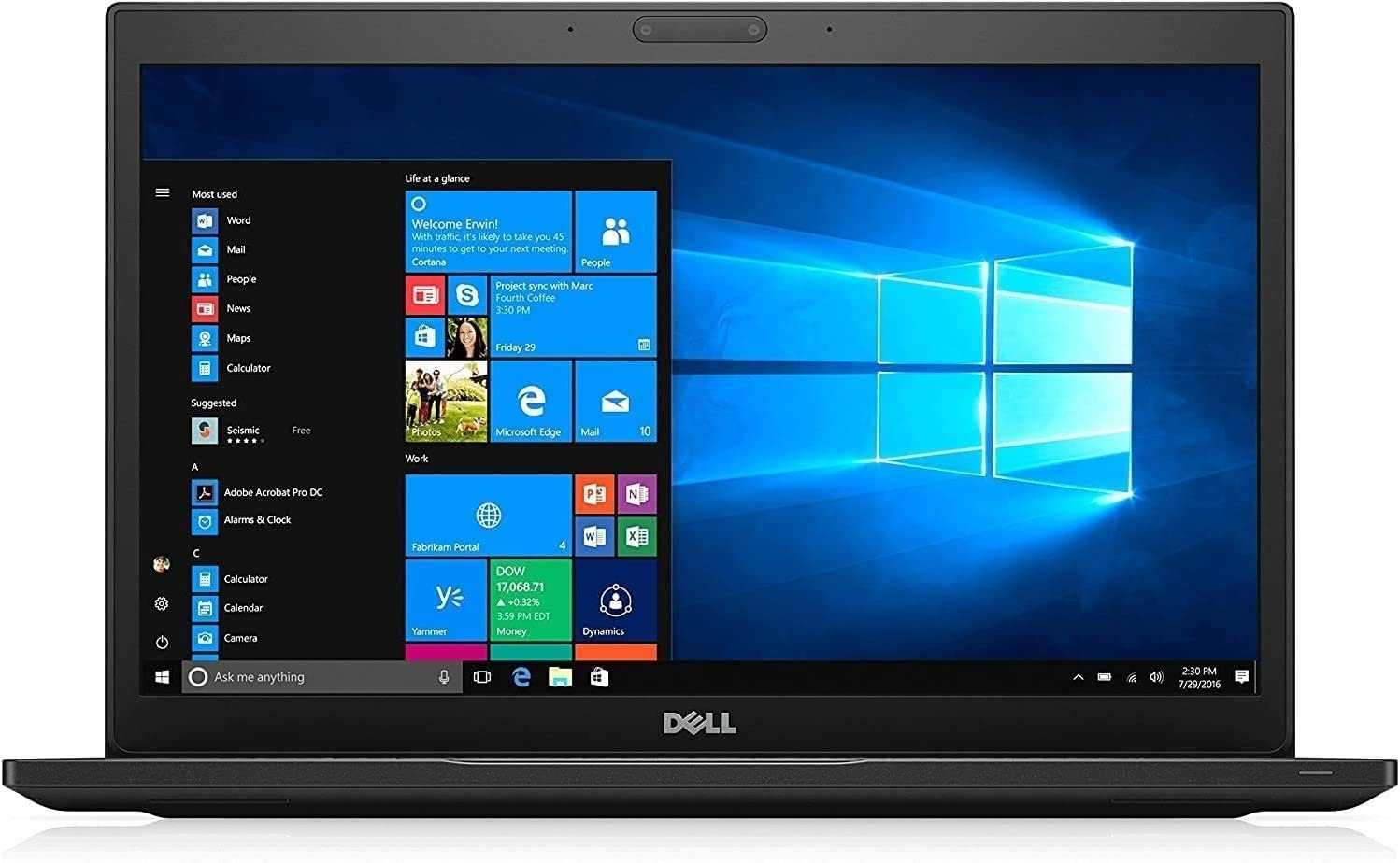 "Dell Latitude 14 7000 Business UltraBook - 14"" Liquid Crystal (1366x768) Display, Intel Core i5-5300U 2.3 GHz 256GB SSD, 8GB DDR4, Webcam, Bluetooth, Windows 10 Professional (Renewed)"