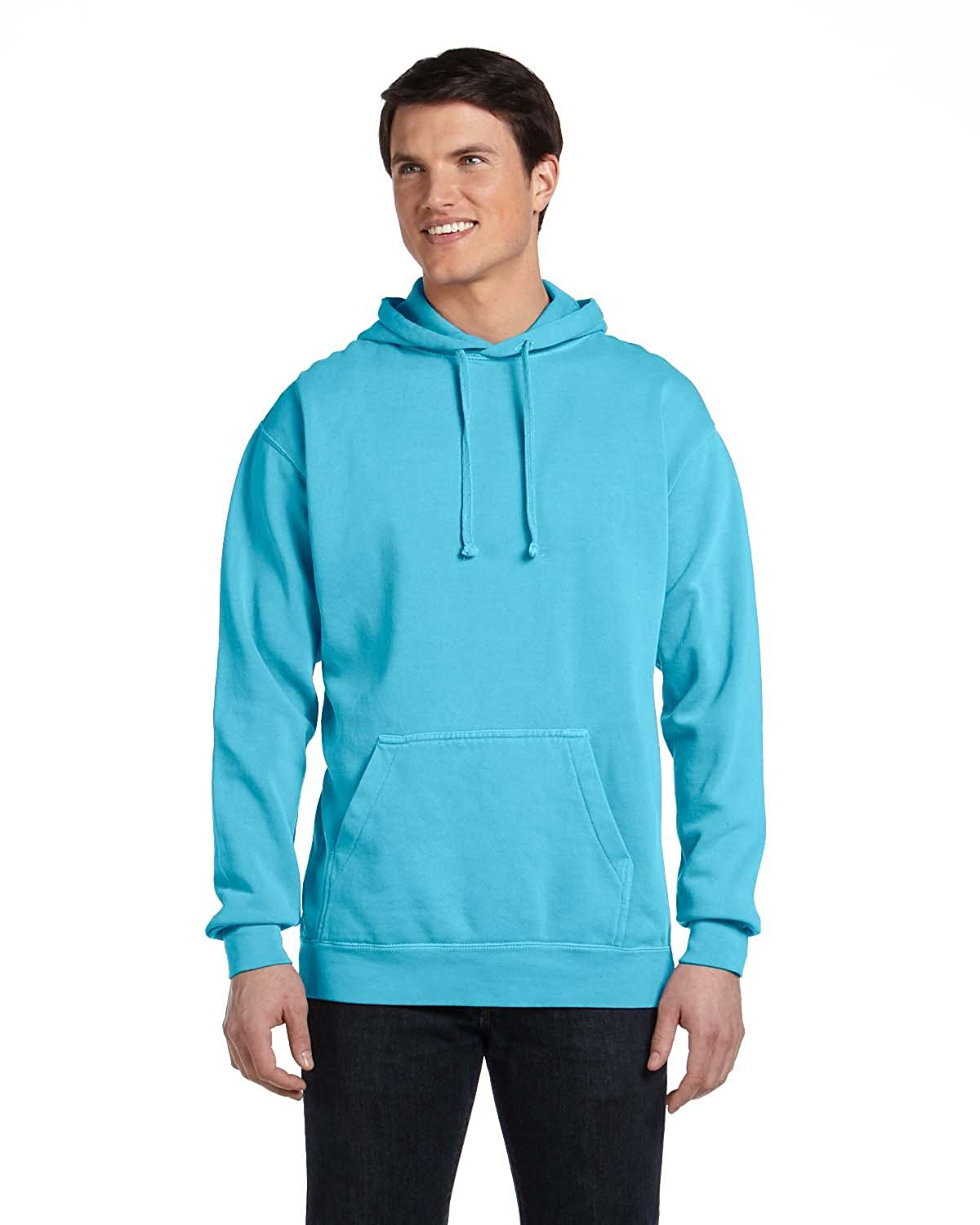 1567 Lagoon Blue Comfort Colors 9.5 oz Garment-Dyed Pullover Hoodie
