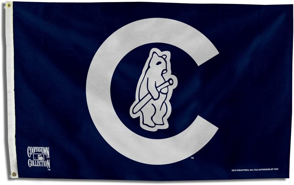 Rico Industries FGBC531914 MLB Chicago Cubs 1914 Cooperstown 3-Foot by 5-Foot Banner Flag