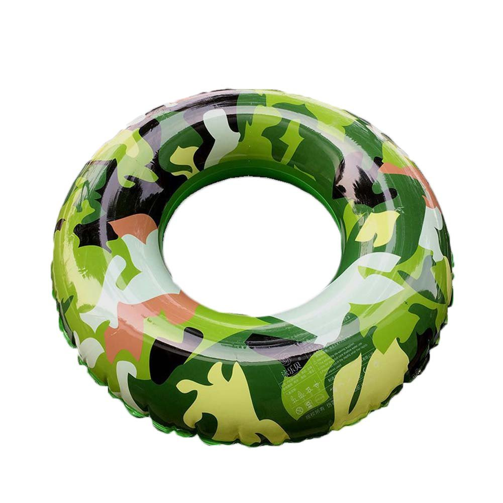 Zytree Summer Swimming Ring Camouflage Inflatable Adult And Kids Children Swimming Pool Seaside Safety Swim Train Float Circle [ L ]   B07DCPWBBB