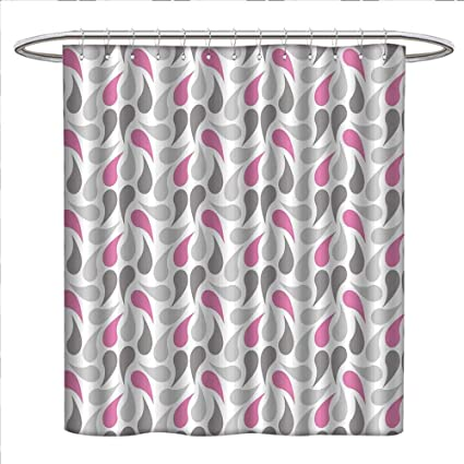 Mannwarehouse Geometric Shower Curtain Collection By Persian Civilization Influenced Pattern Teardrop Shapes Curved Tip Patterned