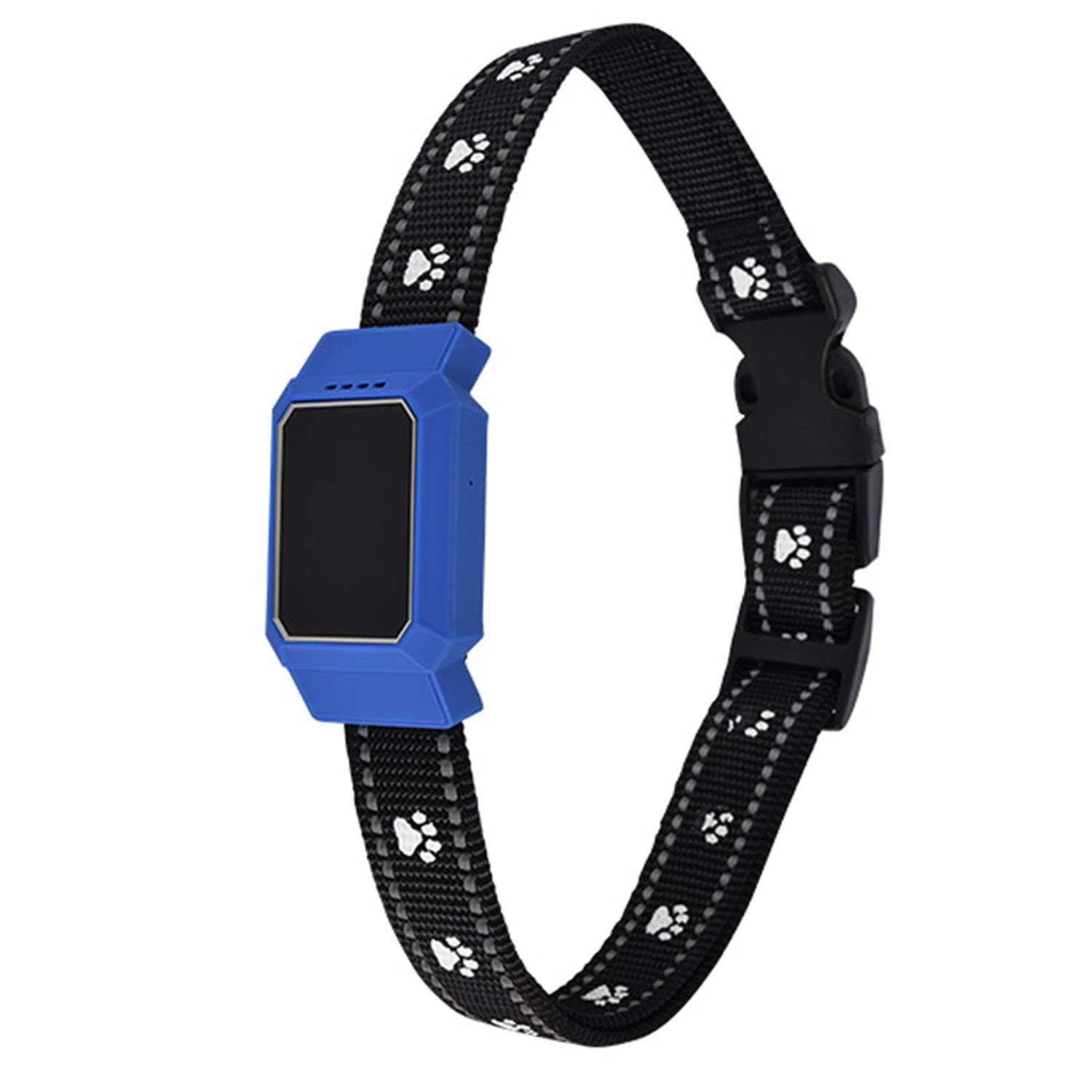 SGKHZ Pet Activity Tracker, IP67 Depth Waterproof Pets & Rare Animal Searcher Locator Trajectory Tracking Alarm, Easy to Use, Suitable for Dogs and Cats,Blue